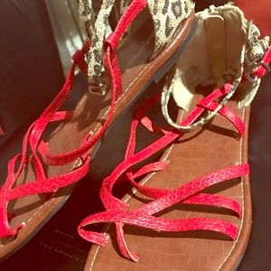 Other - Animal Print Sandals (Youth)